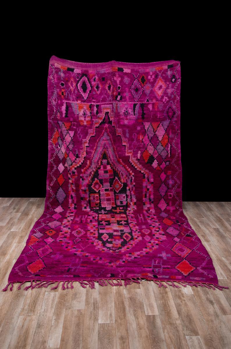 Symbol Berber Carpet, Boujaad rug 6×12, Moroccan rug, Morocco, Oriental carpet, Moroccan wool rug, Berber teppich, tapis berbere, #1097
