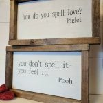 THE ORIGINAL farmhouse inspired Pooh and Piglet 'how do you spell love' quote fr...