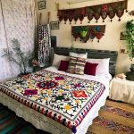 This white bohemian bedroom can likewise permit the colors to introduce in the w...