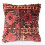Turkish Carpet Pillow 16x16 Red Turkish Rug Pillow Cover Anatolian Carpet Pillow Decorative Pillow Cushion Turkish Pillow Oushak Pillow Rug