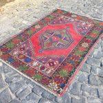 Turkish Rug, Vintage Rug, Area Kilim Rug, Handmade Wool Rug, Tribal Rug 3'6''x 5'4'' = 113 x 168 cm