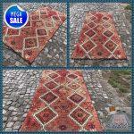 Turkish Rug | Vintage Rug | Handmade Wool Rug | Area Kilim Rug | Tribal Rug !! 240 x 112 cm = 7,8 ft x 3,6 ft