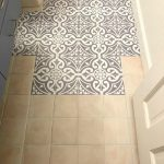 Updating the Bathroom Floor with Tile Stickers - #Bathroom #floor #Stickers #til...