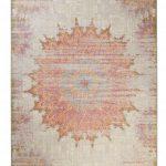 Wecon Home Kurzflor Vintage Teppich » Sunkissed « beige lila gelb blau
