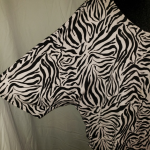 Westbound Woman Zebra Print Blouse Size 1X Soft and sexy black and white zebra p...