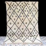 White mrirt rug - Area Rug 5x7 - Moroccan Berber Rug Old Boujad Authentic Handmade Berber Rug - Old Berber carpet - Moroccan Rug