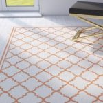 Willa Arlo Interiors Maritza Geometric Beige/Orange Indoor/Outdoor Area Rug