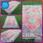 Wool Kilim Rug | Turkish Vintage Handmade Area Rug | Tribal Rug | 6'4'' x 3'8'' = 198 x 117 cm ( EYE )