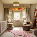 freaking over the pink zebra rug bookshelves mobile curtains window seateve