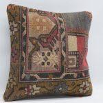 turkish carpet pillow throw pillow 16x16 handmade carpet pillow home decor 16x16 floor pillow ethnic pillow cushion cover MD 0124