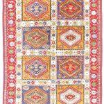 vintage tribal rug. Genuine hand knotted Yalameh rug. 4'x 6'